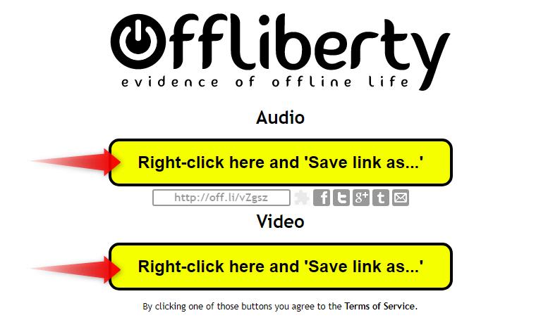 Offliberty ボタンをクリックして動画をダウンロード