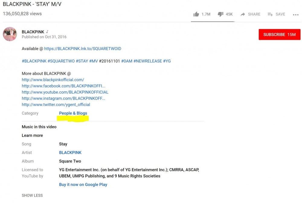 BLACKPINK 「ブログ」カテゴリにMVをアップロード